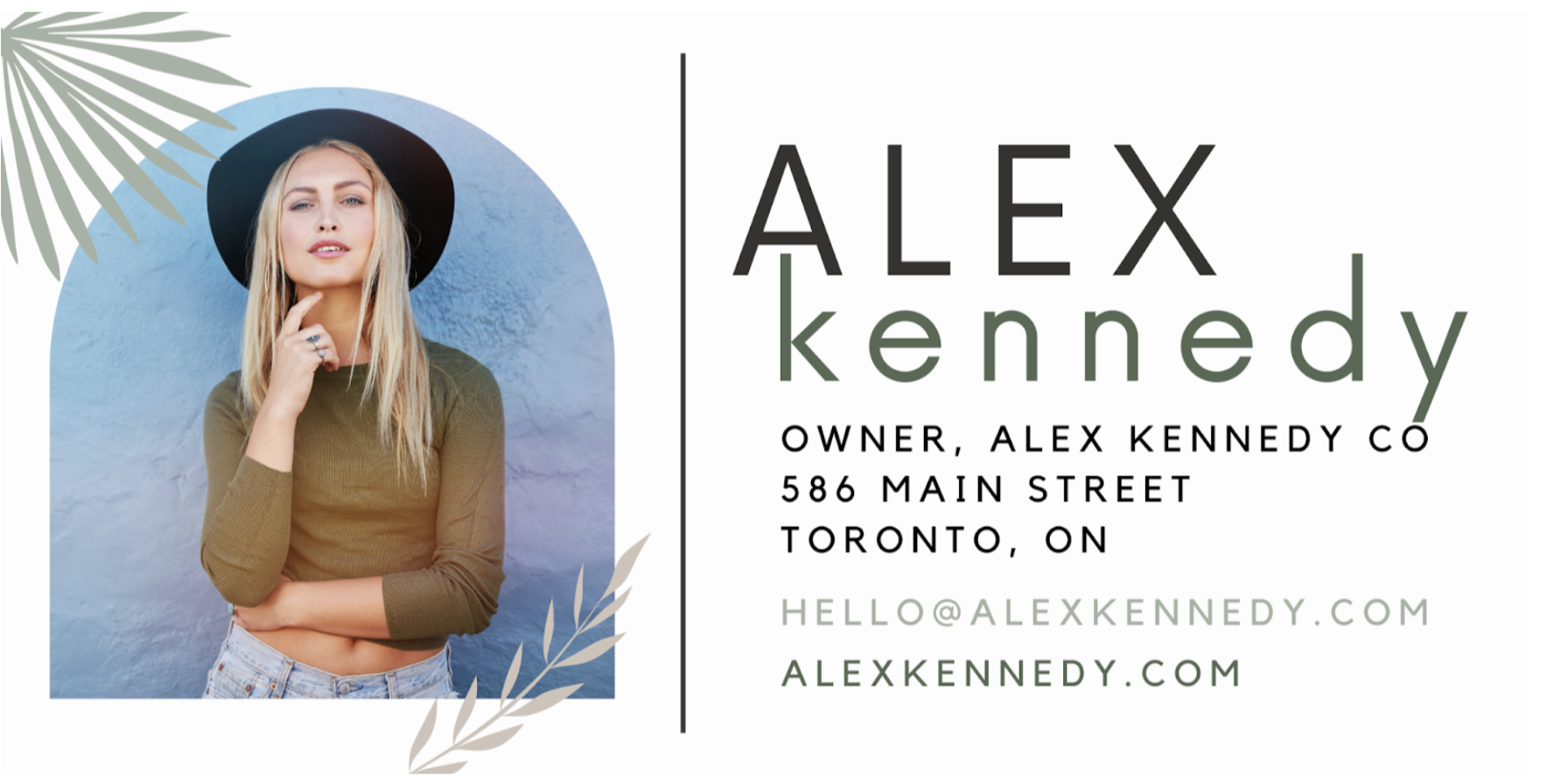 Email signature made in Canva
