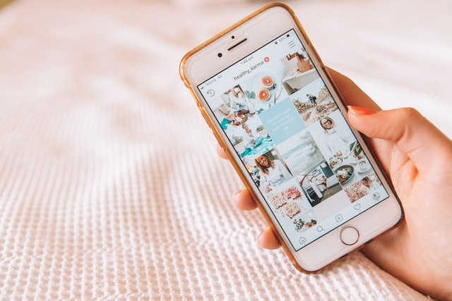 Women looking at Instagram feed